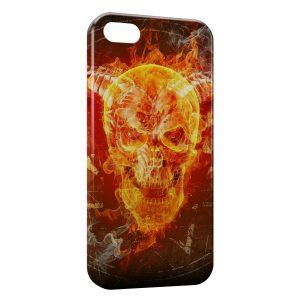 Coque iPhone 5C Tete de Mort Fire Feu