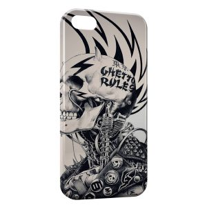 Coque iPhone 5C Tete de mort Motard