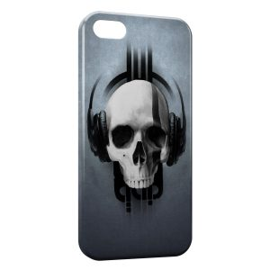 Coque iPhone 5C Tete de mort Music
