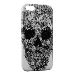 Coque iPhone 5C Tete de mort flower Design