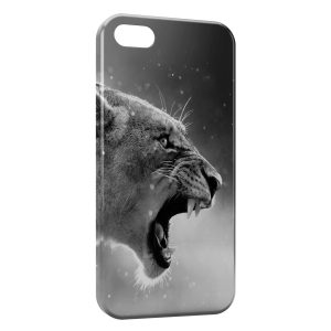 Coque iPhone 5C Tiger Black & White