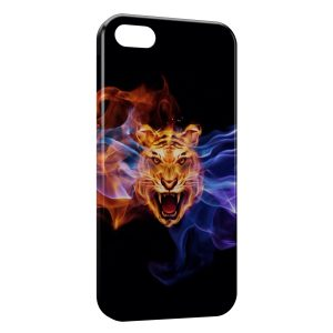 Coque iPhone 5C Tiger Fire