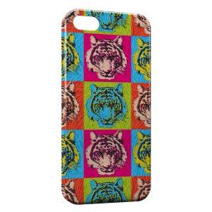 Coque iPhone 5C Tiger Style Art Multicolor
