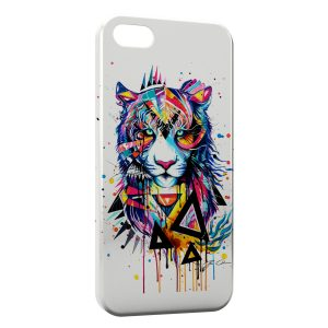 Coque iPhone 5C Tiger painted