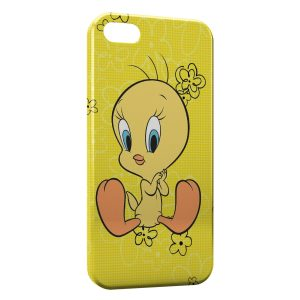 Coque iPhone 5C Titi Flowers Yellow Style
