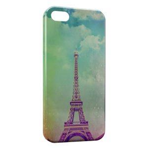 Coque iPhone 5C Tour Eiffel Vintage Art