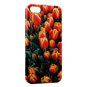 Coque iPhone 5C Tulipes