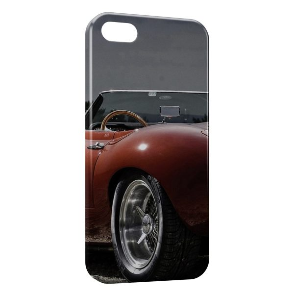 Coque iPhone 5C Vintage voiture Rouge