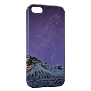 Coque iPhone 5C Violet Sky & Moutain