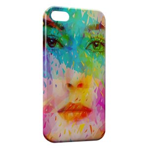Coque iPhone 5C Visage