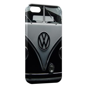 Coque iPhone 5C Volkswagen Van Black Vintage