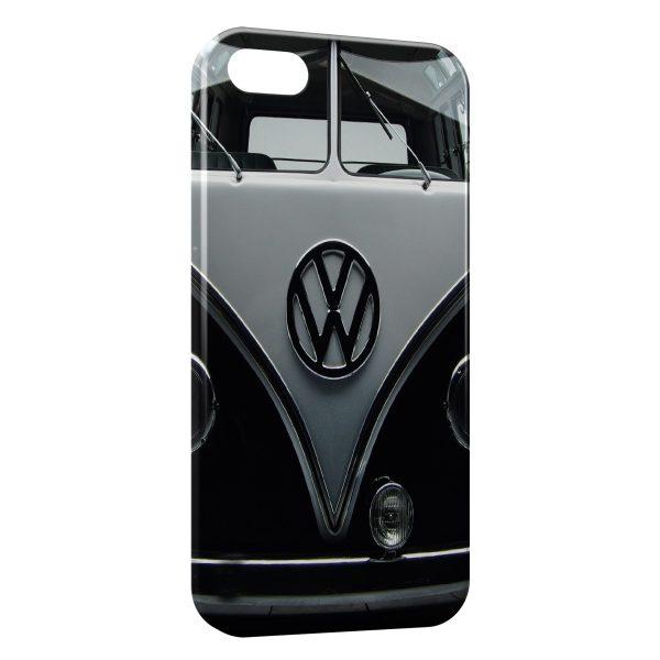 Coque iPhone 5C Volkswagen Van Black Vintage