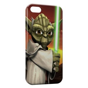 Coque iPhone 5C Yoda Star Wars Anime Green