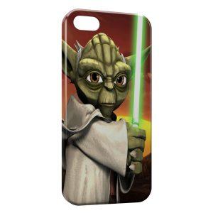 Coque iPhone 5C Yoda Star Wars Anime Green