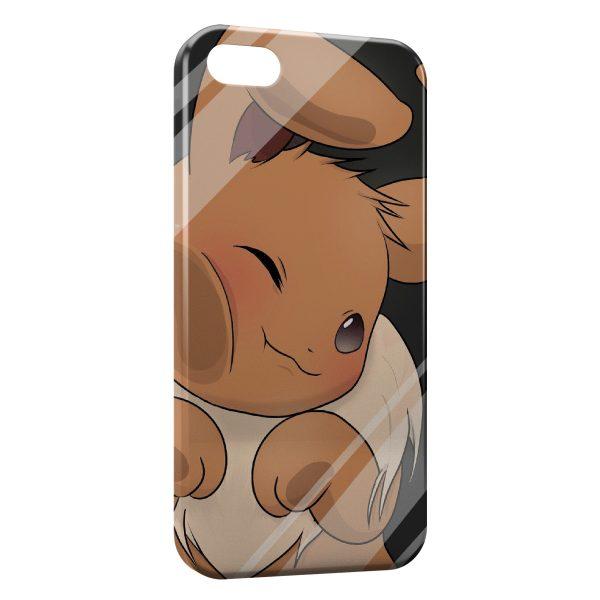 Coque iPhone 6 Plus 6S Plus Evoli Pokemon Vitre Glace 600x600