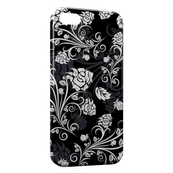 Coque iPhone 6 Plus & 6S Plus Fleurs Black & White Design