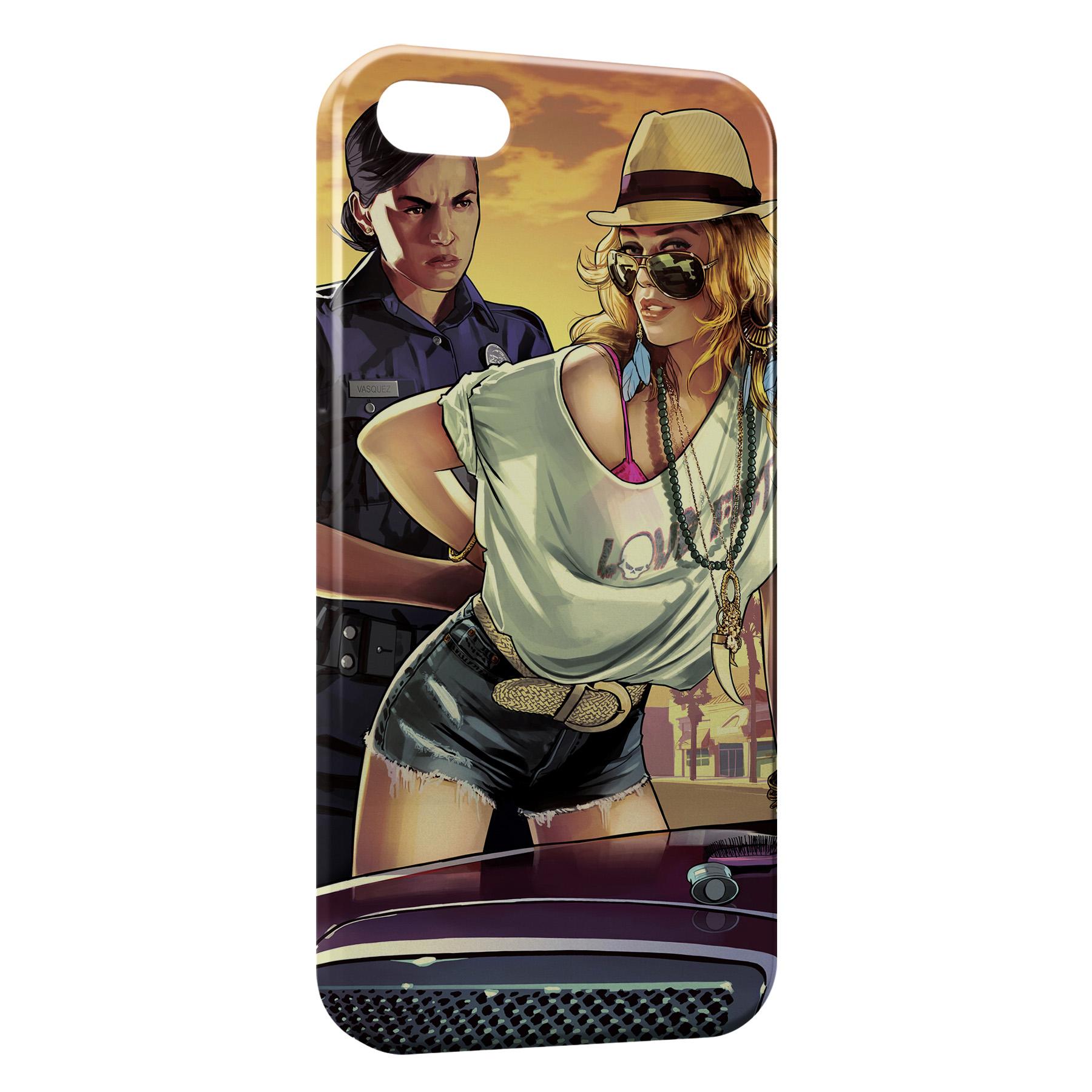 Coque iPhone 6 Plus & 6S Plus GTA Police
