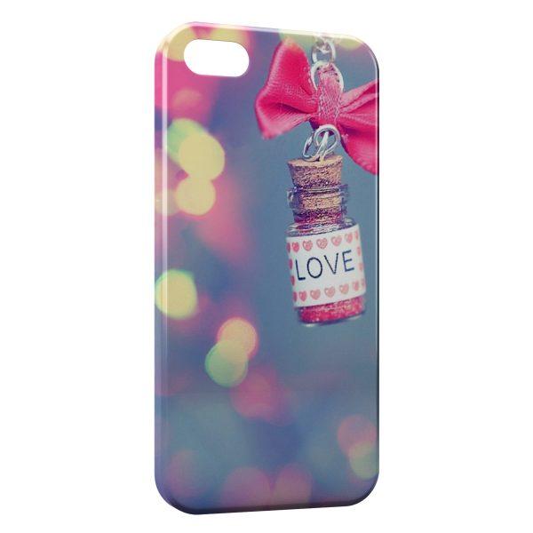 Coque iPhone 6 Plus & 6S Plus Love Vintage Flacon Rose
