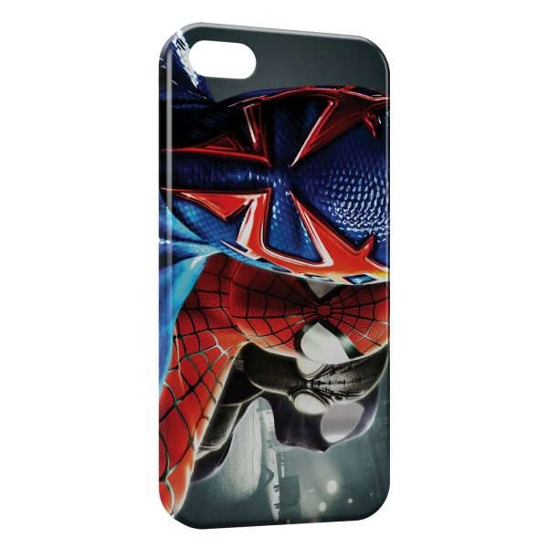 Coque iPhone 6 Plus & 6S Plus Spiderman Tetes