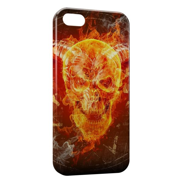 Coque iPhone 6 Plus & 6S Plus Tete de mort in Fire