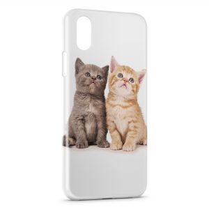 Coque iPhone X & XS 2 Chats Mignons