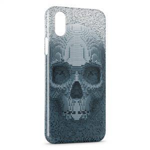 Coque iPhone X & XS 3D Tete de mort