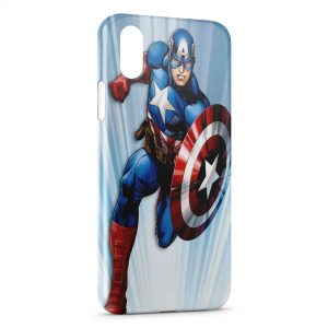 Coque iPhone X & XS Advenger Captain America USA