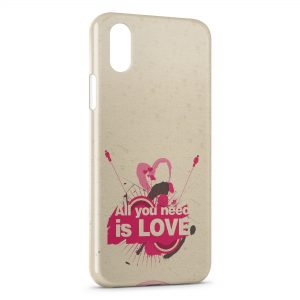 Coque iPhone X & XS All you need is LOVE Art