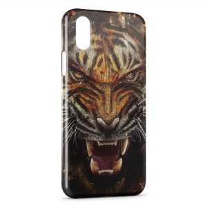 Coque iPhone X & XS Angry Tiger