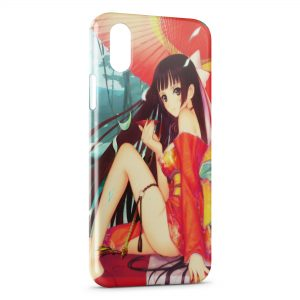 Coque iPhone X & XS Anime Girl Manga 2