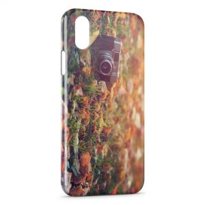 Coque iPhone X & XS Appareil Photo Vintage