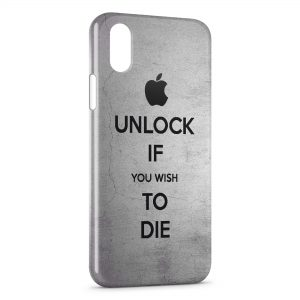 Coque iPhone X & XS Apple Unlock If You Wish To Die