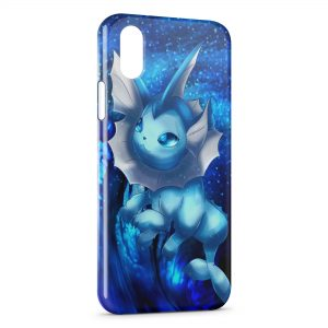 Coque iPhone X & XS Aquali Evoli Pokemon Art