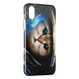 Coque iPhone X & XS Astronaut Cat