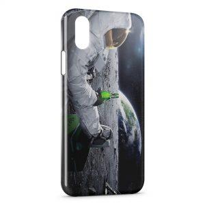 Coque iPhone X & XS Astronaute Bière