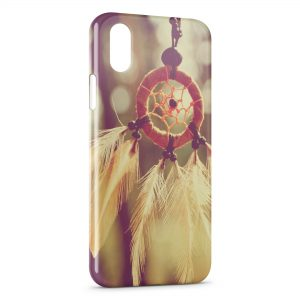 Coque iPhone X & XS Attrape rêve dream catcher vintage