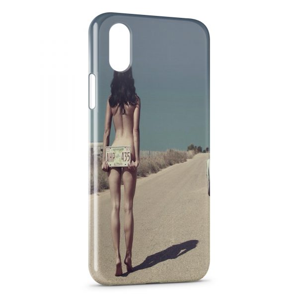 Coque iPhone X & XS Autostoppeuse sexy