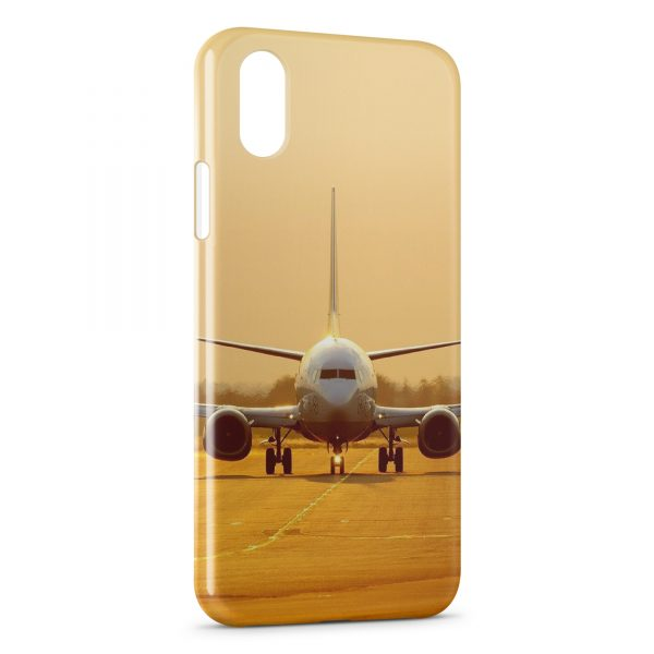 Coque iPhone X & XS Avion Sunshine