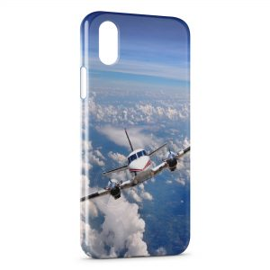 Coque iPhone X & XS Avion en vol