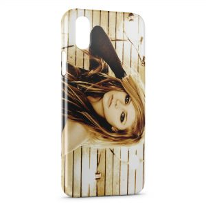Coque iPhone X & XS Avril Lavigne Goodbye