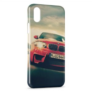 Coque iPhone X & XS BMW Voiture rouge