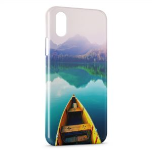 Coque iPhone X & XS Barque & Nature
