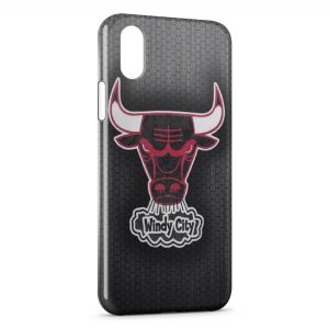 Coque iPhone X & XS Basketball Chicago Bulls 2