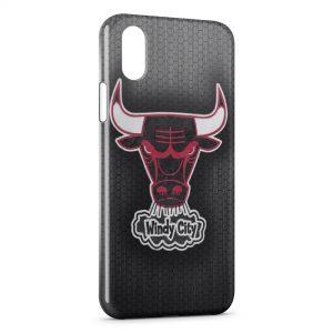 Coque iPhone X & XS Basketball Chicago Bulls 2