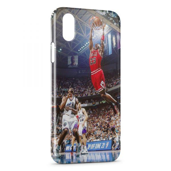 Coque iPhone X & XS Basketball Dunk Bulls