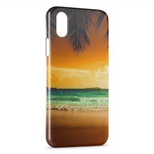 Coque iPhone X & XS Beach & Palmiers