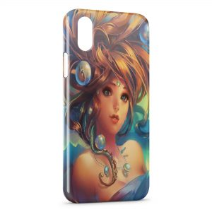 Coque iPhone X & XS Beautiful Game Girl