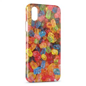 Coque iPhone X & XS Beautiful bonbons colors