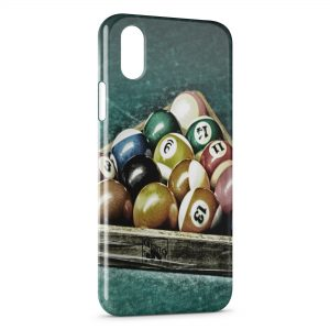 Coque iPhone X & XS Billard Pro Vintage