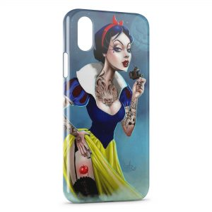 Coque iPhone X & XS Blanche-Neige Tattoo Dark